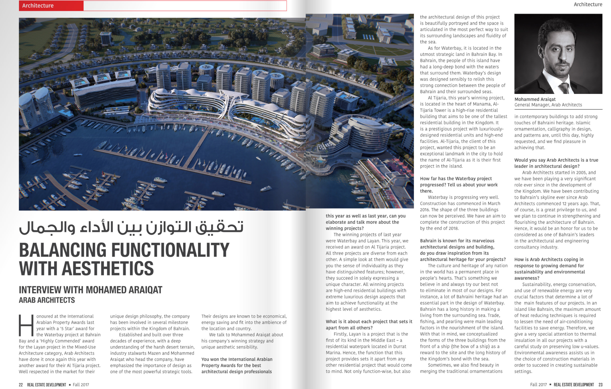 Balancing Functionality with Aesthetics - Interview with Arab Architects' General Manager