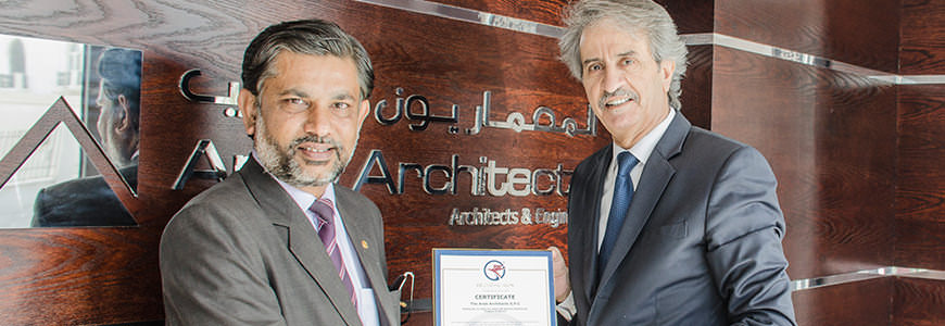 Arab Architects Receiving ISO 9001:2015 International Certification