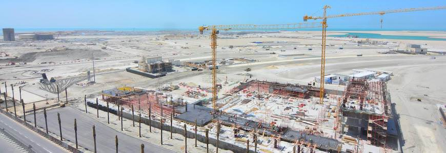 Photo of the Marasi construction site which is well underway